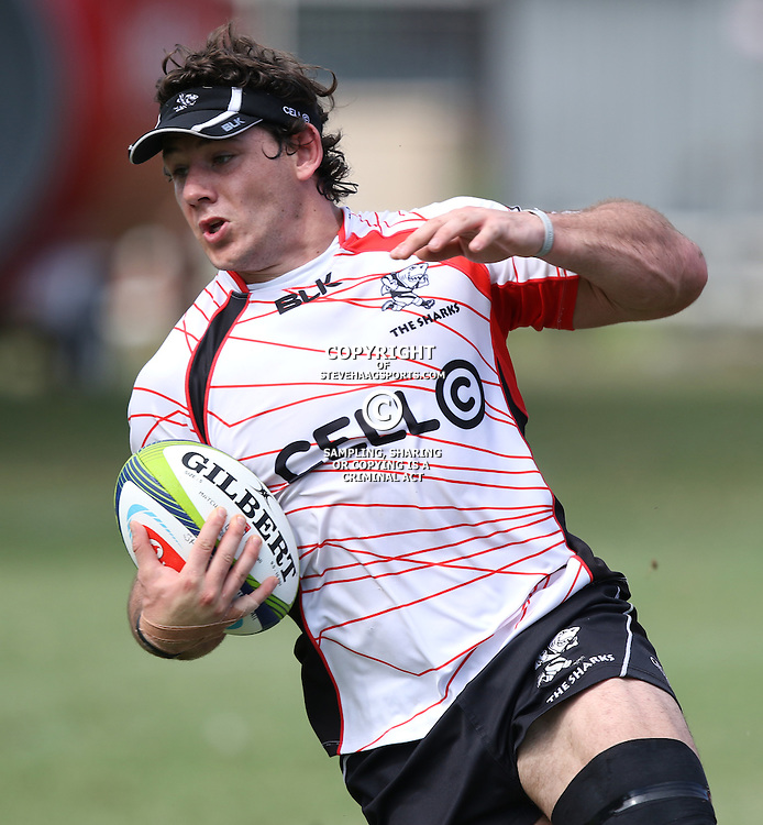 DURBAN, SOUTH AFRICA - Marcell Coetzee during the Cell C Sharks training session at Growthpoint Kings Par in Durban, South Africa. (Photo by Steve Haag)