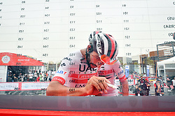 March 1, 2019 - Emirati Arabi Uniti - Foto LaPresse - Massimo Paolone.1 Marzo 2019 Emirati Arabi Uniti.Sport Ciclismo.UAE Tour 2019 - Tappa 6 - da Ajman a Jebel Jais - 180 km.Nella foto: GAVIRIA RENDON Fernando(COL) UAE TEAM EMIRATES..Photo LaPresse - Massimo Paolone.March 1, 2019 United Arab Emirates.Sport Cycling.UAE Tour 2019 - Stage 6 - Ajman to Jebel Jais - 111,8 miles.In the pic: GAVIRIA RENDON Fernando (COL) UAE TEAM EMIRATES (Credit Image: © Massimo Paolone/Lapresse via ZUMA Press)