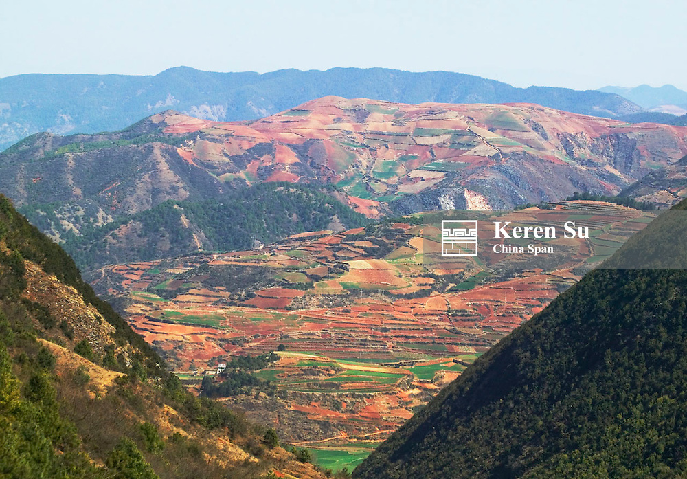 Red soil land in the mountain, North Yunnan, China, 2005