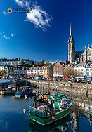 Fishing boats in harbor in Cobh, Ireland