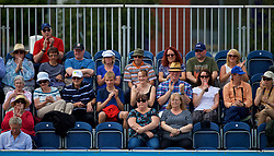 LIVERPOOL, ENGLAND - Friday, June 16, 2017: Spectators during Day Two of the Liverpool Hope University International Tennis Tournament 2017 at the Liverpool Cricket Club. (Pic by David Rawcliffe/Propaganda)