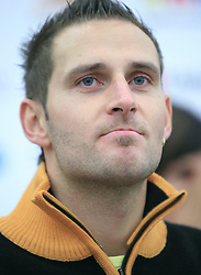 Ales Gorza at press conference of Slovenian men and women alpine skiing national team before new season 2008/2009 in Hervis, City park, BTC, Ljubljana, Slovenia, on October 20, 2008.  (Photo by: Vid Ponikvar / Sportal Images).