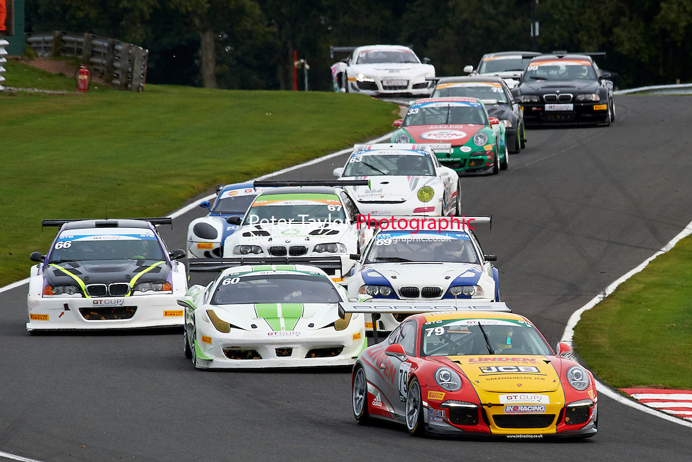 #79 Will PLANT Porsche 991 GT3 during GT Cup - Race 1 as part of the MSVR Oulton Park 10th October 2015 at Oulton Park, Little Budworth, Cheshire, United Kingdom. October 10 2015. World Copyright Taylor/PSP. Copy of publication required for printed pictures.  Every used picture is fee-liable. http://archive.petertaylor-photographic.co.uk