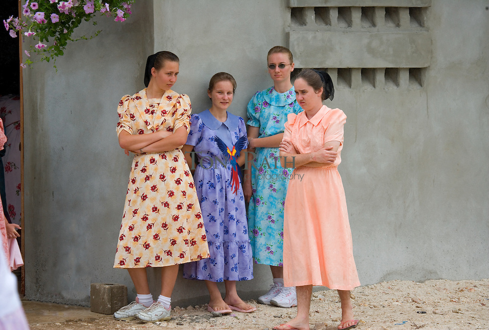 Mennonite women walking around Countryside Park