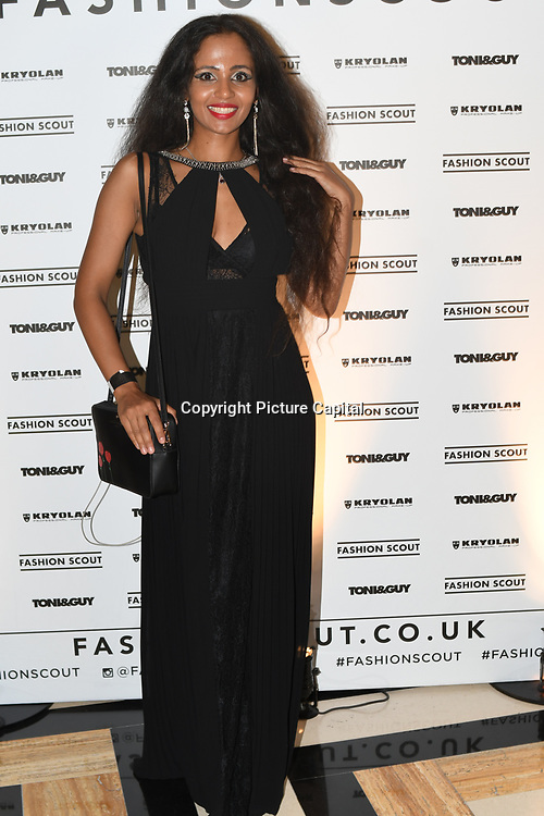Jahna Sebastian attend Fashion Scout - SS19 - London Fashion Week Day 2, De Vere Grand Connaught Rooms, London, UK. 16 September 2018