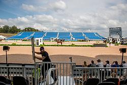 Bauarbeiten Hauptstadion während Dressurtraining<br /> Tryon - FEI World Equestrian Games™ 2018<br /> Hintergrundbilder vom Veranstaltungsgelände<br /> 10.September 2018<br /> © www.sportfotos-lafrentz.de/Stefan Lafrentz