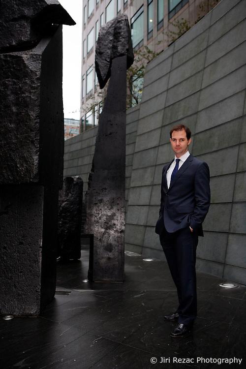 UK ENGLAND LONDON 6SEP11 - Senior associate at RREEF, Francisco Cabeza of Spain poses for a photo at Liverpool Street, city of London...jre/Photo by Jiri Rezac..© Jiri Rezac 2011