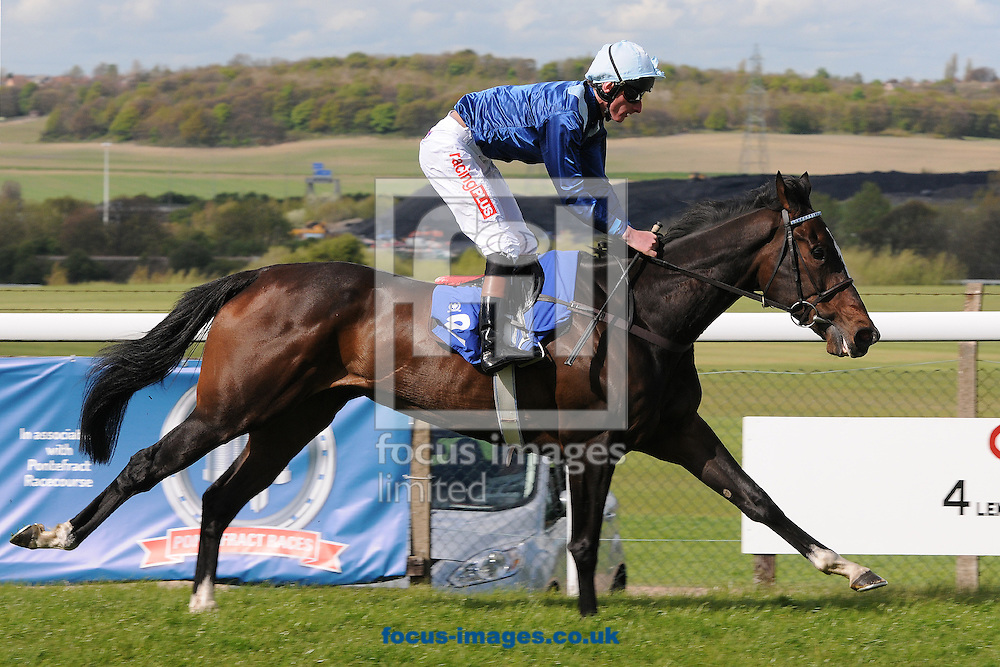 Pleasant Valley and jockey Adam Kirby win The Ladbrokes Mobile Fillies' Handicap Stakes at Pontefract Races, Pontefract<br /> Picture by Alan Wright/Focus Images Ltd 07733 196489<br /> 29/04/2015