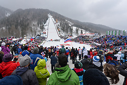 View on the hill during the Flying Hill Individual Competition at 4th day of FIS Ski Jumping World Cup Finals Planica 2013, on March 24, 2013, in Planica, Slovenia. (Photo by Matic Klansek Velej / Sportida.com)