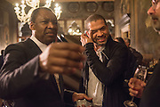 OKWUL ENWEZOR; JASON MORAN, Okwui Enwezor and Vinyl Facorty hosted party at Ca'Sagredo, Campo Santa Sofia Venice Biennale, Venice. 5 May 2015