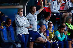 2019?6?17?.   ???????????——F??????????.    6?16??????????????????????  .   ?????????????????2019??????????F??????????3?0??????.   ?????????..SP-FRANCE-PARIS-FIFA WOMEN'S WORLD CUP-GROUP F-USA-CHILE.(1906017) -- PARIS, June 17, 2019  Head Coach Jill Ellis (L, front) of the United States is seen at the pitch side during the Group F match between the United States and Chile at the 2019 FIFA Women's World Cup in Parc des Princes in Paris, France, June 16, 2019.  The United States won 3-0. (Credit Image: © Xinhua via ZUMA Wire)