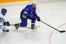 Miha Verlic of Slovenia during Ice Hockey match between National Teams of Italy and Slovenia in Round #5 of 2018 IIHF Ice Hockey World Championship Division I Group A, on April 28, 2018 in Arena Laszla Pappa, Budapest, Hungary. Photo by David Balogh / Sportida