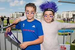 Young Gloucestershire fans pose for a photo ahead of the game between Gloucestershire v Somerset - Photo mandatory by-line: Dougie Allward/JMP - Mobile: 07966 386802 - 19/06/2015 - SPORT - Cricket - Bristol - County Ground - Gloucestershire v Somerset - Natwest T20 Blast