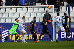 "Foto Filippo Rubin<br /> 01/12/2018 Ferrara (Italia)<br /> Sport Calcio<br /> Spal - Empoli - Campionato di calcio Serie A 2018/2019 - Stadio ""Paolo Mazza""<br /> Nella foto: GOAL SPAL JASMIN KURTIC (SPAL)<br /> <br /> Photo Filippo Rubin<br /> December 01, 2018 Ferrara (Italy)<br /> Sport Soccer<br /> Spal vs Empoli - Italian Football Championship League A 2018/2019 - ""Paolo Mazza"" Stadium <br /> In the pic: GOAL SPAL JASMIN KURTIC (SPAL)"