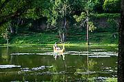 Boat Ride, Angkor Thom, Siem Reap, Cambodia, Asia,