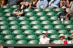 LONDON, ENGLAND - Wednesday, June 30, 2010: Empty seats on Centre Court during the Gentlemen's Singles Quarter-Final on day nine of the Wimbledon Lawn Tennis Championships at the All England Lawn Tennis and Croquet Club. (Pic by David Rawcliffe/Propaganda)