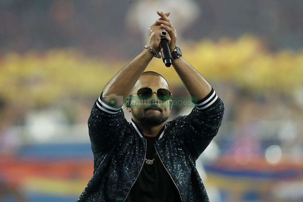 artist Sean Paul during the UEFA Champions League final between Real Madrid and Liverpool on May 26, 2018 at NSC Olimpiyskiy Stadium in Kyiv, Ukraine
