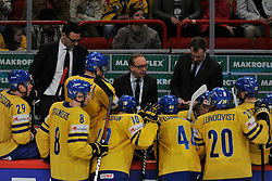 11.05.2013, Globe Arena, Stockholm, SWE, IIHF, Eishockey WM, Schweden vs Slowenien, im Bild timeout Sverige Sweden // during the IIHF Icehockey World Championship Game between Sweden and Slovenia at the Ericsson Globe, Stockholm, Sweden on 2013/05/11. EXPA Pictures © 2013, PhotoCredit: EXPA/ PicAgency Skycam/ Simone Syversson..***** ATTENTION - OUT OF SWE *****
