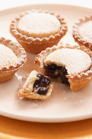 Mince pies on plate close-up