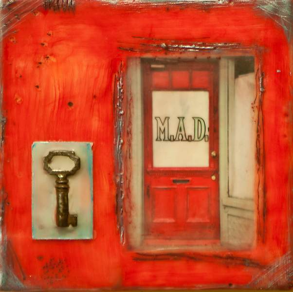 MAD Door Photo-Encaustic Art 6x6
