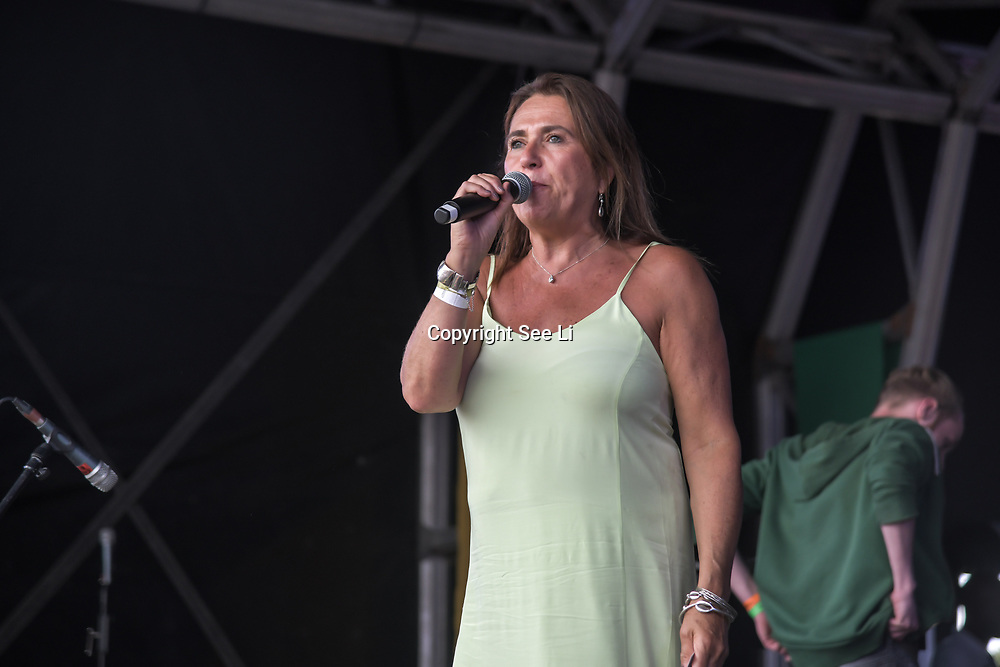 London, UK. 21th July, 2019. Presenter of the Lambeth Country Show 2019 a family festival with live music food & drinks, Arts and Culture and animal show at Brockwell Park, London.