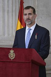 19.06.2015, Madrid, ESP, König Felipe VI und Königin Letizia im Orden del Merito, im Bild King Felipe VI of Spain // during the Orden del Merito Civil decorations imposition ceremony at Madrid, Spain on 2015/06/19. EXPA Pictures © 2015, PhotoCredit: EXPA/ Alterphotos/ Pool<br /> <br /> *****ATTENTION - OUT of ESP, SUI*****
