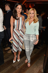 Left to right, ROXIE NAFOUSI and SHANIE RYAN at a party to celebrate the opening of 100 Wardour Street, Soho, London on 28th January 2016.