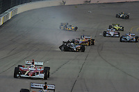 Ana Beatriz, Mike Coway accident, Iowa Corn Indy 250, Iowa Speedway, Newton, IA USA 6/25/2011