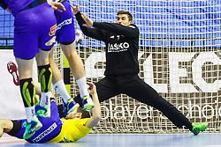 Lesjak Urban #1 of RK Celje Pivovarna Lasko during handball match between RK Celje Pivovarna Lasko (SLO) and KS Viive Tauron Kielce (POL) in Group phase of EHF Men's Champions League 2016/17, on February 19, 2017 in Arena Zlatorog, Celje, Slovenia. Photo by Grega Valancic