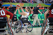 Charlotte Moore for Great Britain vs Canada in the Group A Preliminary Womens Wheelchair basketball at the Rio Olympic Arena.  Rio 2016 Paralympic Games. Thursday 8th September 2016