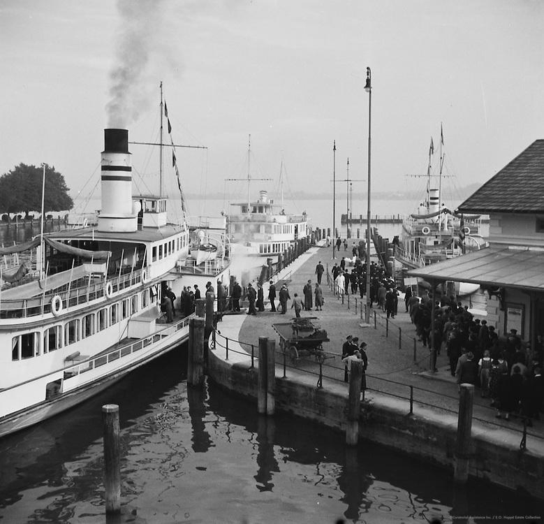 Ships on Lake Constance, Bregenz, Austria, 1937