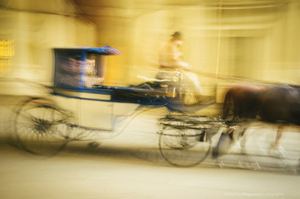 A horse and Cart in Motion,<br /> Vienna, Fujifilm X100
