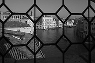 Italy. Venice elevated view. BALBI palace on Grand Canal  Venice - Italy  view from CA REZONICO  palace /  BALBI palais sur le grand canal  Venise - Italie vue depuis la CA REZONICO palais