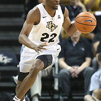 ORLANDO, FL - NOVEMBER 30: Chance McSpadden #22 of the UCF Knights dribbles with the ball up court during a NCAA basketball game against the Missouri Tigers at the CFE Arena on November 30, 2017 in Orlando, Florida. (Photo by Alex Menendez/Getty Images) *** Local Caption *** Chance McSpadden
