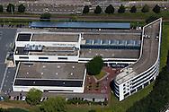 Luchtfoto kantoor Leeuwarder Courant, NDC Mediagroep en meer.