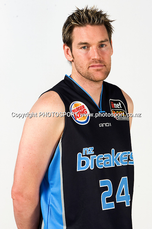 Dillon Boucher, New Zealand Breakers headshots for the 2010 ANBL basketball season. Breakers Gym, North Shore, Auckland. 24 September 2010. Photo: William Booth/photosport.co.nz