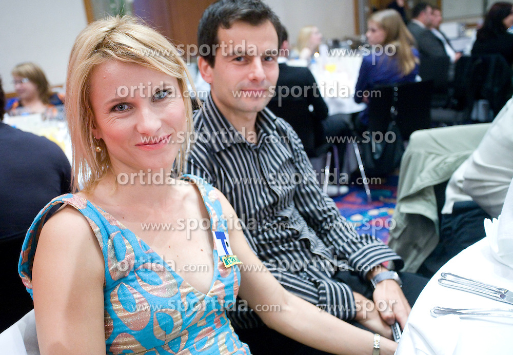 Brigita Langerholc and her husband at Best Slovenian athlete of the year ceremony, on November 15, 2008 in Hotel Lev, Ljubljana, Slovenia. (Photo by Vid Ponikvar / Sportida)