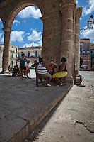 The stunning Santo Domingo plaza in Old Havana, Cuba.