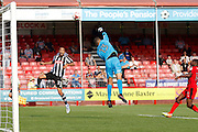 Crawley Town goalkeeper Yusuf Mersin (13) gets a finger to it during the EFL Sky Bet League 2 match between Crawley Town and Notts County at the Checkatrade.com Stadium, Crawley, England on 27 August 2016. Photo by Andy Walter.