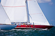 Columbia and American Eagle sailing in the Nantucket 12 Meter Class Regatta.