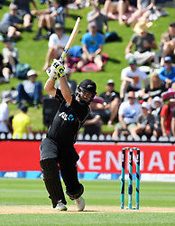 New Zealand's Colin Munro bats against Pakistan in the fifth one day International Cricket match, Basin Reserve, Wellington, New Zealand, Friday, January 19, 2018