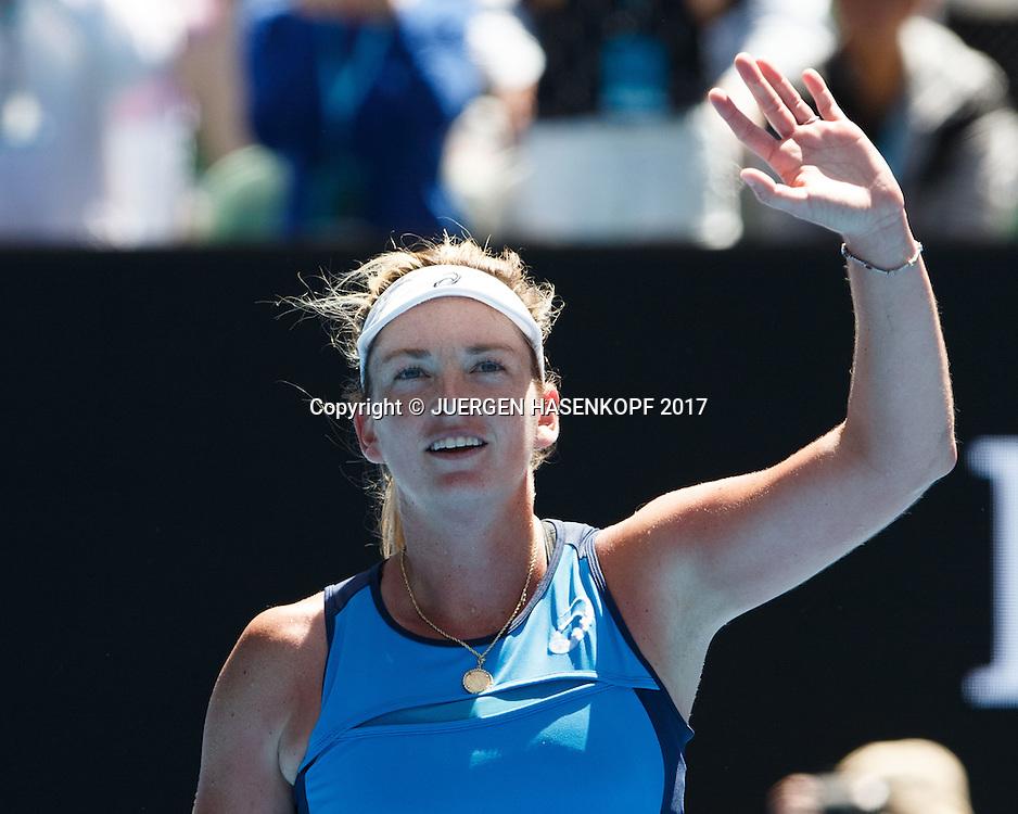 COCO VANDEWEGHE (USA) winkt und bedankt sich beim Publikum<br /> <br /> Australian Open 2017 -  Melbourne  Park - Melbourne - Victoria - Australia  - 24/01/2017.