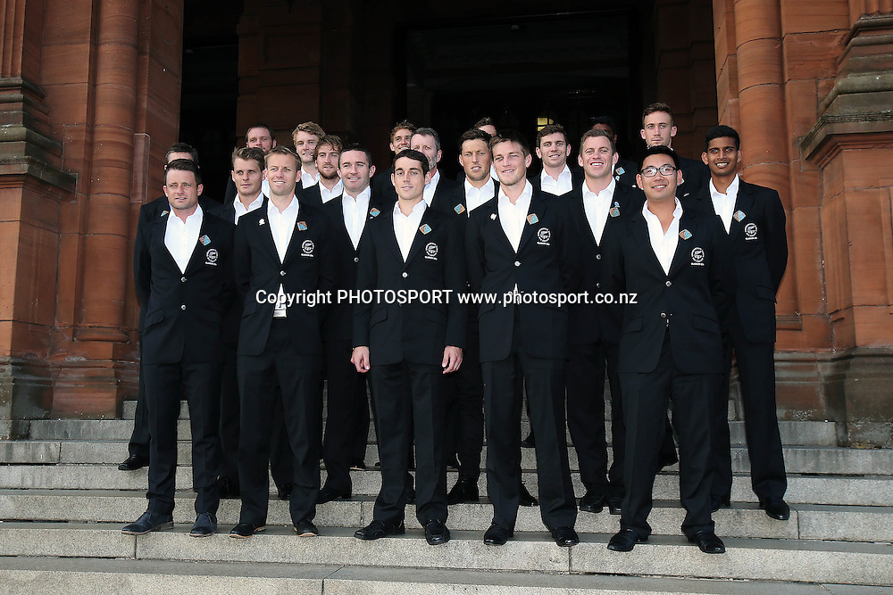 Black Sticks Men pose for a team photo at The Kelvingrove Art Gallery and Museum, Glasgow, Scotland. Tuesday 22nd July 2014. Photo: Anthony Au-Yeung / photosport.co.nz