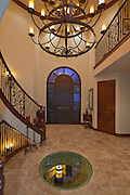 Entry and foyer of luxurious house