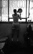 Roma Giugno 2000.Carcere di Rebibbia N.C..La battitura  come forma di protesta  dei detenuti per il sovraffollamente del carcere...Rome June 2000.Prison Rebibbia N.C..Banging the pots a form of protest of the prisoners due to overcrowding of the prison.