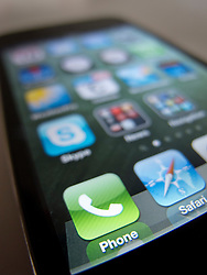 close-up of an Apple iPhone 4G smart phone