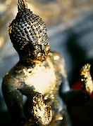 Buddha with gold leaf offerings