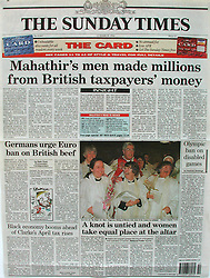 13th March 1994. Bristol, England, Great Britain.<br /> Sunday Times, London. Front page.<br /> Ordination of women priests. <br /> This was my first ever broad sheet front page, one that hadn't come easily. Earlier in the day I had been dispatched to Bristol Cathedral to cover history in the making. For the first time in 450 years, the Anglican Church had taken the bold and at the time extremely controversial descision to ordain women priests. The world's media descended on the story. In a frantic afternoon I covered events in the lead up to the big event. Lots of pomp and ceremony, but the main event was to come later in the day. I sent my film back to the bureau of South West News Service with my then deputy photo editor. A little later later I got a frantic call, my film was shit, thin and all washed out. Nothing could be used. WTF did I think I was playing at? 'Get your shit together or get another f''king job,' the deputy photo editor screamed down the phone. This was a bit rich for a man who rarely left the office and wasn't rated that highly as a shooter by my colleagues. A classic rookie mistake. I had been shooting an event the previous evening and bumped the ISO of my film, forgetting to reset it the following day. I was devastated. My girlfriend at the time was mad at me, yet again I had missed a dinner party in London. She was reaching the end of her tether, keys would be under the mat yet again! But the main event hadn't happened yet. Not until the Bishop handed them the official papers would the ladies formally be the first women priests to be ordained. The press had been banned from the catacombs of the great cathedral, yet a TV cameraman friend of mine from ITV and I had discovered a way down earlier in the day. We took a huge gamble to ignore the main event upstairs, instead opting to hang out in the catacombs where we knew the ceremony would be finalized despite the media ban. We risked being thrown out and getting nothing at all. I didn't have mu