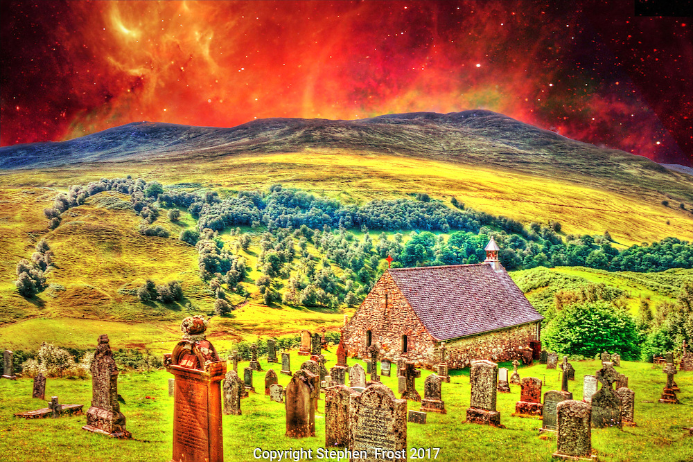 Church at the End of the World, a fantasy image.