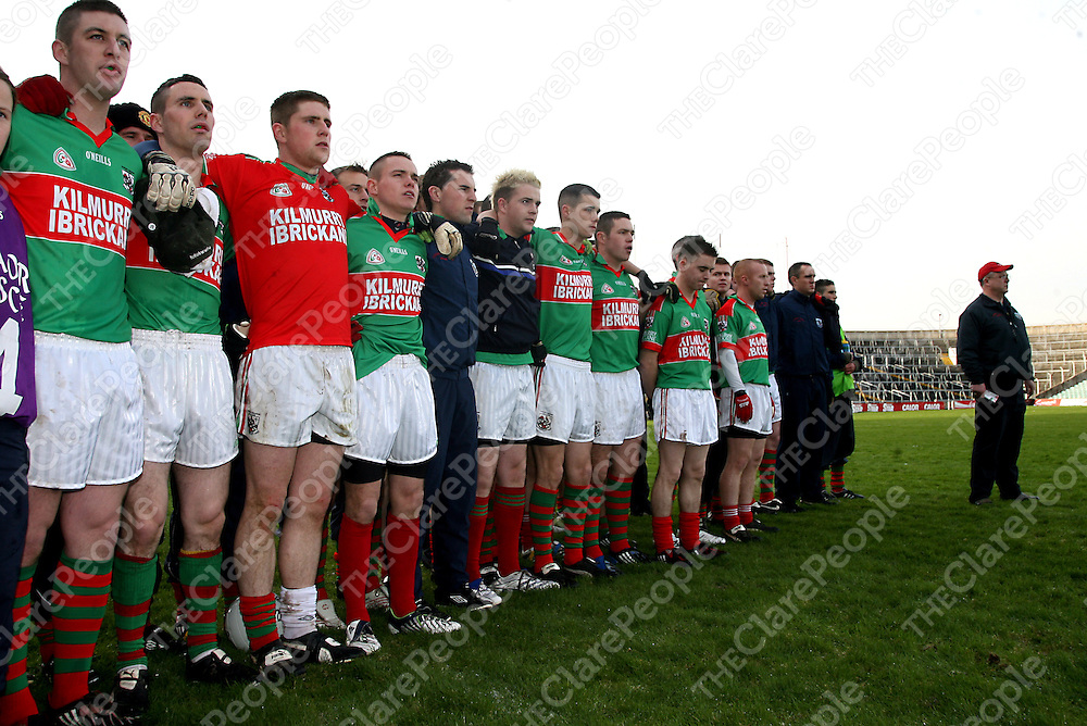 Kilmurry Ibrickane players stand strong before their Munster final clash with Dromcollogher/Broadford in the Gaelic Grounds on Sunday.<br /> Photograph by Yvonne Vaughan